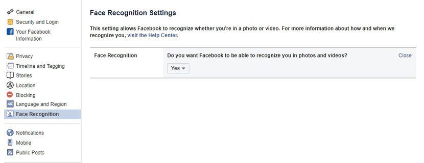 Facebook opcije