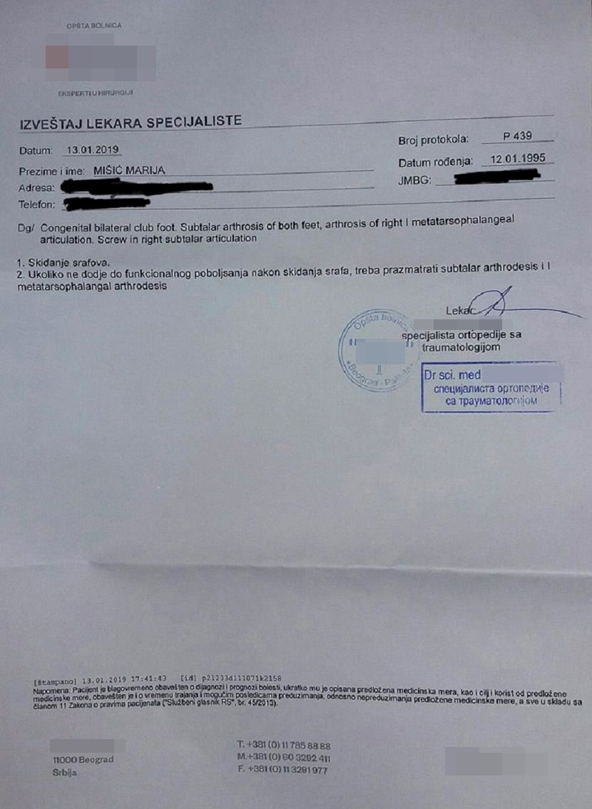 dokument, Marija Mišić