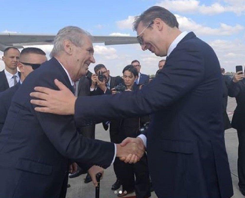 Miloš Zeman i Aleksandar Vučić