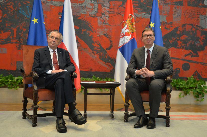 Aleksandar Vučić i Miloš Zeman, Palata Srbija