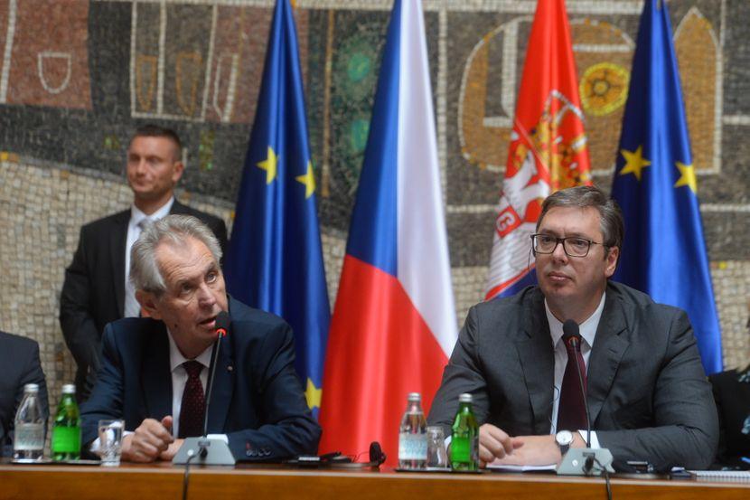Miloš Zeman i Aleksandar Vučić, forum