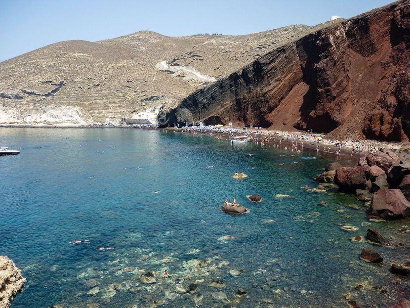 Crvena plaža Red Beach Santorini