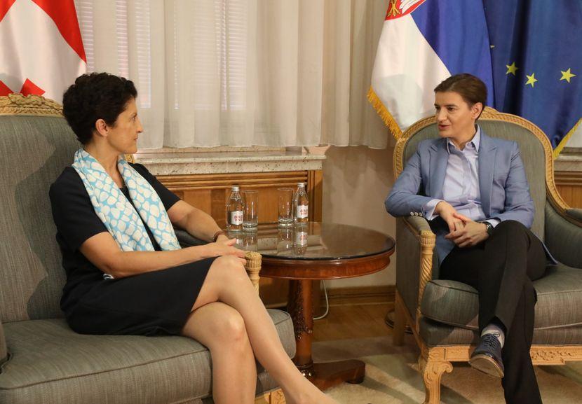 Sastanak premijerke Brnabić sa ministarkom pravde Gruzije