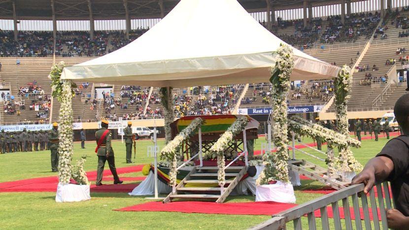 Dačić na sahrani Mugabea