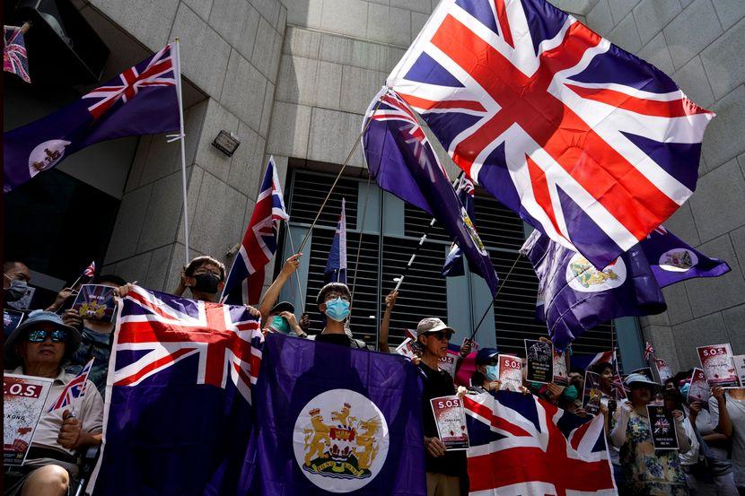 Hongkong, protest ispred britanskog konzulata