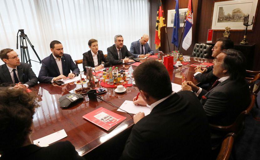 Ana Brnabić sa predsednikom nemackih preduzeca srednjje velicine