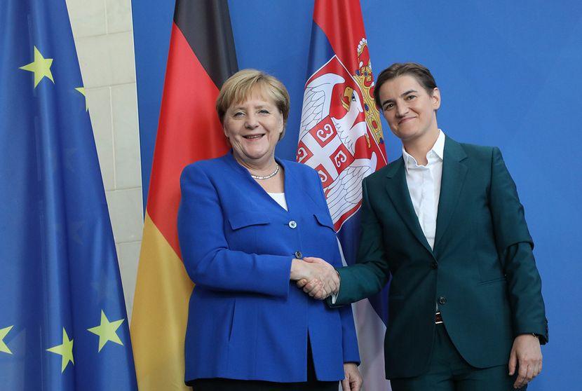 Ana Brnabic, Angela Merkel
