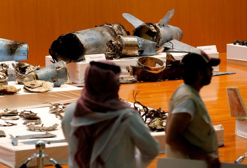 Ostaci drona., napad Saudijska Arabija
