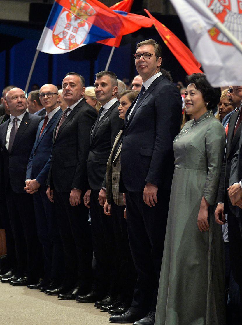 NR Kina, Sava Centar, Aleksandar Vučić, predsednik Srbije