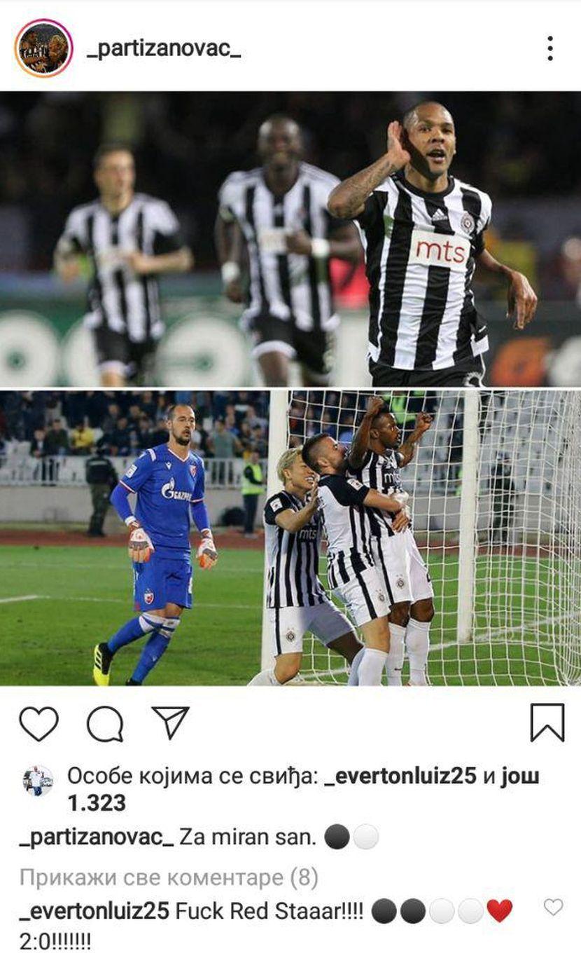 Instagram profil, Everton Luiz