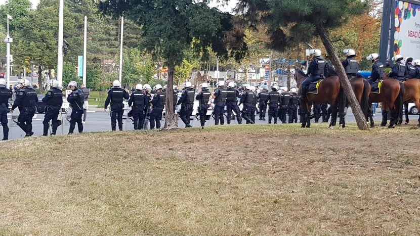 Autokomanda, FK Partizan - FK Crvena zvezda, 161. Veciti derbi, policija