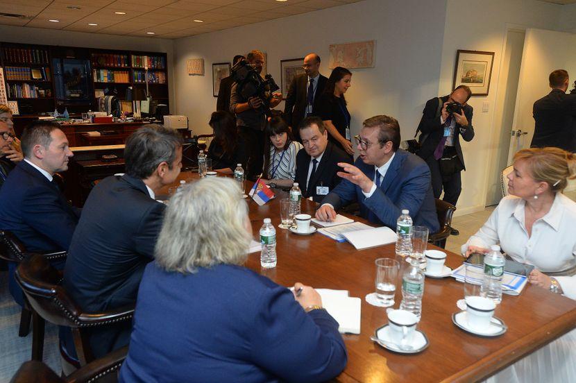Vučić i Micotakis u Njujorku