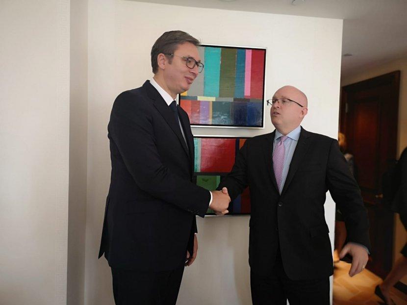 Aleksandar Vučić, Filip Riker, UN, Njujork