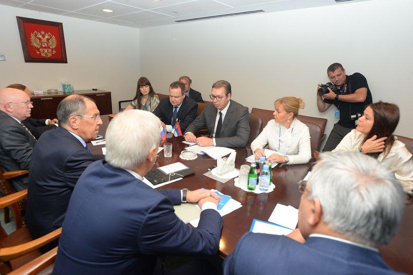 Aleksandar Vučić, predsednik Srbije, Sergej Lavrov, SAD