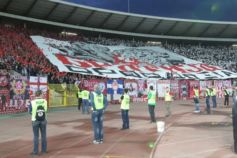 FK Olimpijakos, FK Crvena zvezda, koreografija