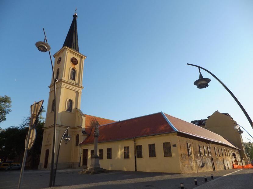 Pančevo panorama centar grada, rikokatolička crkva