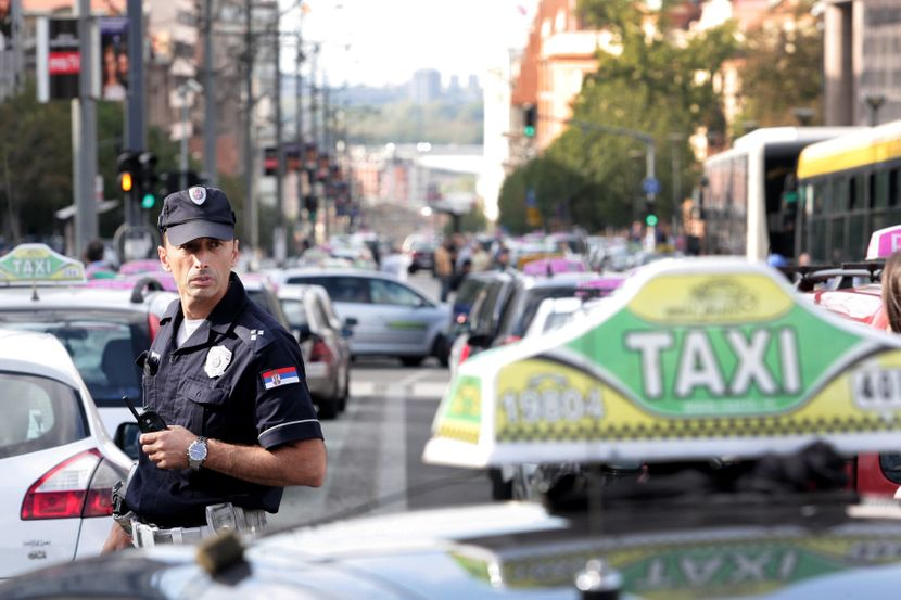 Štrajk taksi vozila, taksisti, taxi