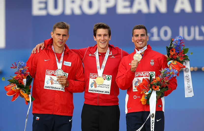 Adam Helkelt, Tomas Van den Plecen i Mihail Dudaš, najbolji višebojci u Evropi, Evropsko prvenstvo 2016 Amsterdam