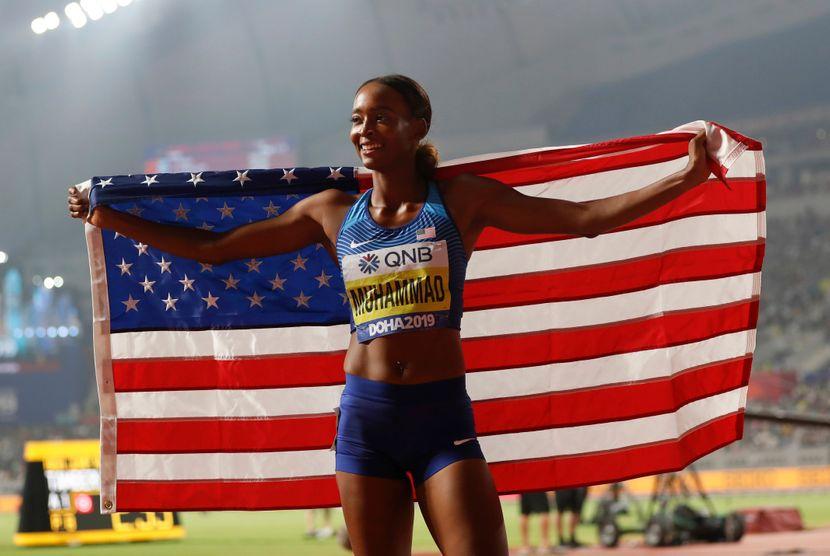 Dalila Muhamad, 400m prepone svetski rekord, Doha 2019