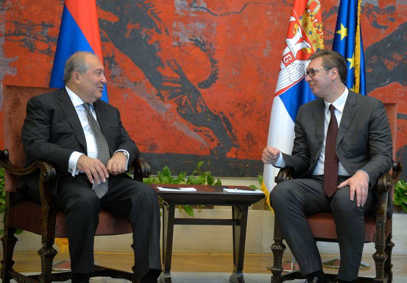 Aleksandar Vučić i predsednik Jermenije Armen Sarkisijan