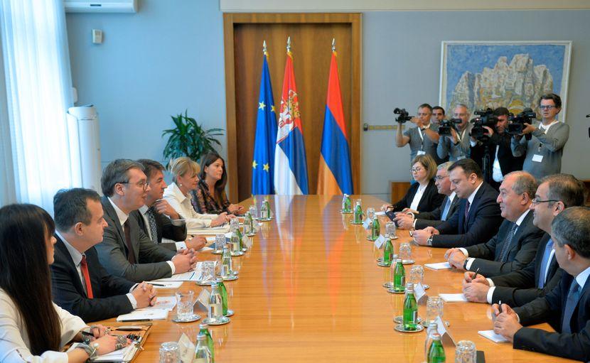 Plenarni sastanak delegacija Srbije i Jermenije