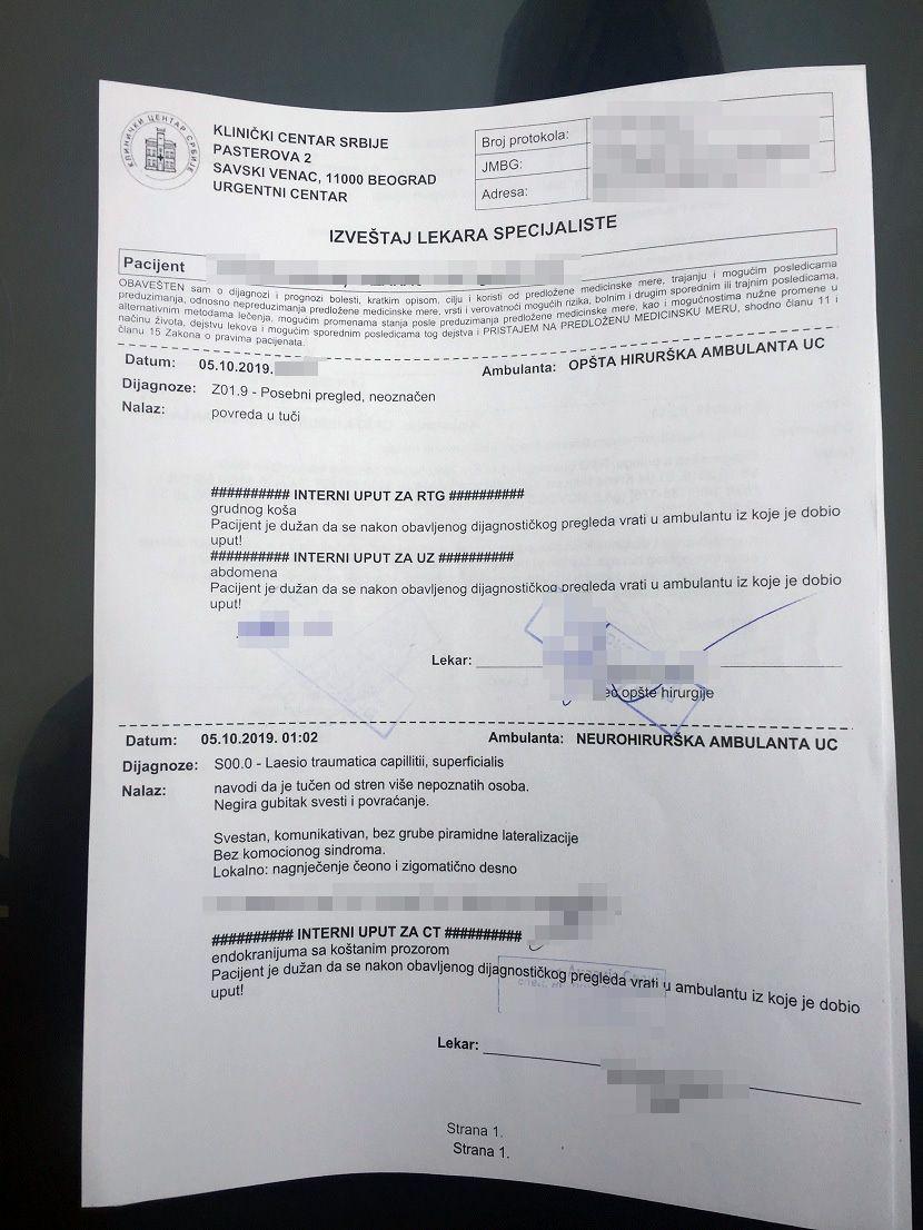 izveštaj lekara, Staniša Lazarac