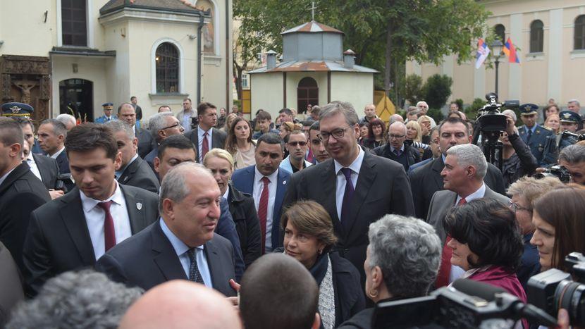 Aleksandar Vučić, predsednik Srbije, polaganje venaca, Armen Sarkisijan