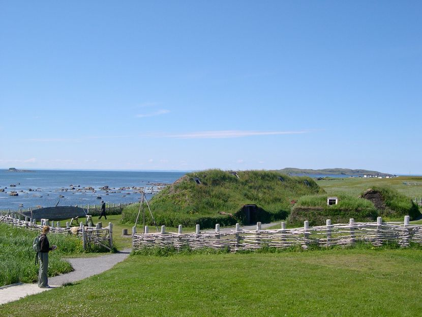 L'Anse aux Meadows, Authentic Viking recreation, Newfoundland, Canada