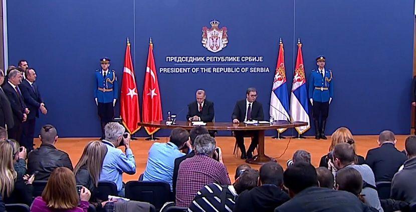 Redžep pTajip Erdogan i Aleksandar Vučić