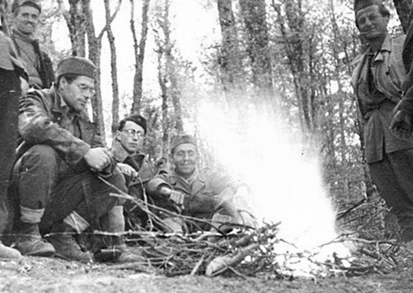 Jure Kaštelan, Drugi svetski rat, NOR, NOB, NOP, Partizani, NOVJ
