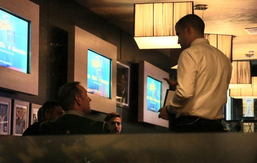 Kevin Spejsi u restoranu Novak