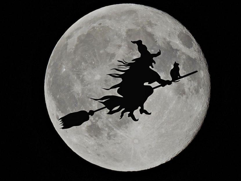 veštica, noć veštica, metla