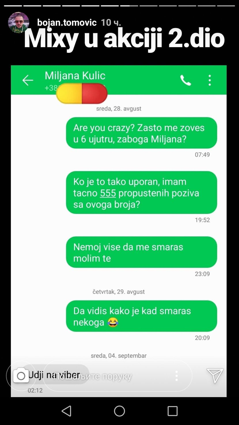 Bojan Tomovic, Miljana Kulic