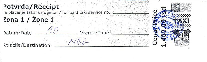 Taksi vaucer