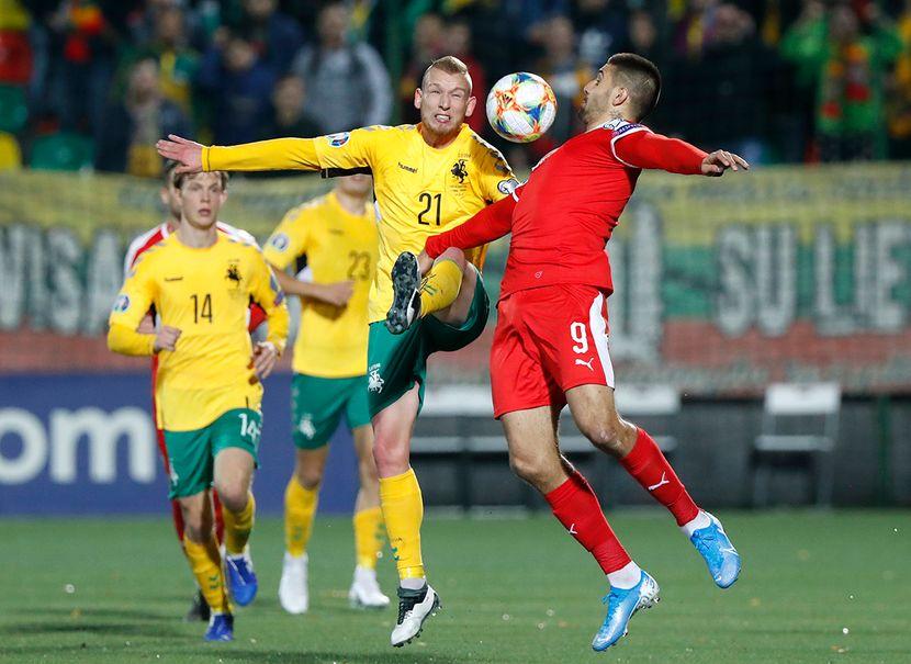 Fudbal, Utakmica Srbija Litvanija