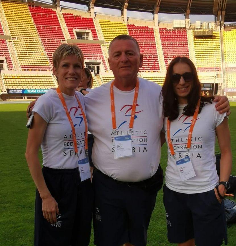 Olivera Jevtić, Novica pantelić i marija Stambolić, atletska reprezentacja Srbije