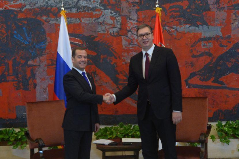 Premijer Dmitrije Medvedev i predsednik Aleksandar Vučić