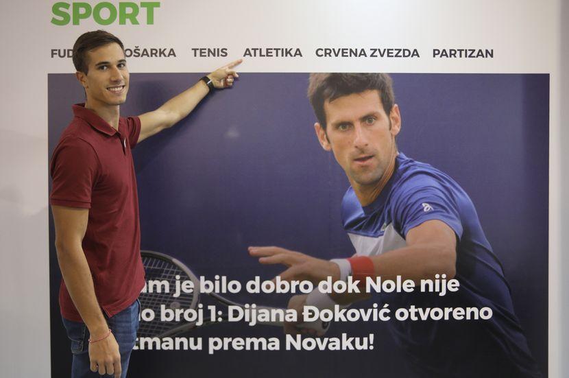 Sajam Medija 2019, Atletičari Milica Gardašević i Strahinja Jovančević