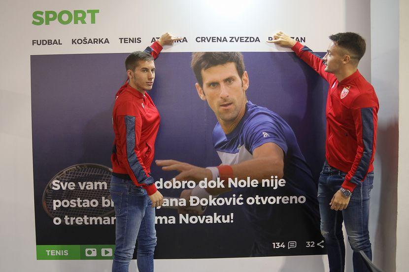 Sajam Medija 2019, Fudbaleri Crvene zvezde, Veljko Nikolić, Njegoš Petrović