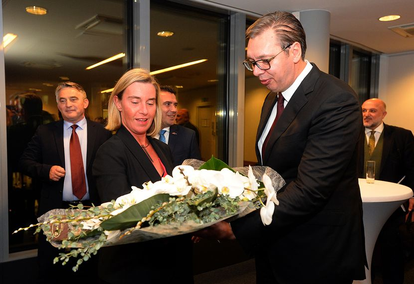 Aleksandar Vucic, Federika Mogerini, Brisel