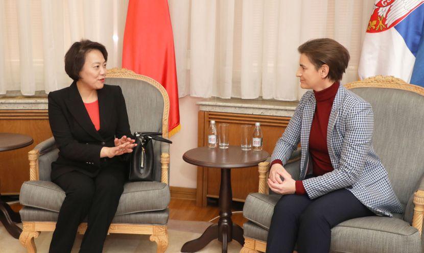 Premijerka Ana Brnabić i ambasadora Kine Čen Bo