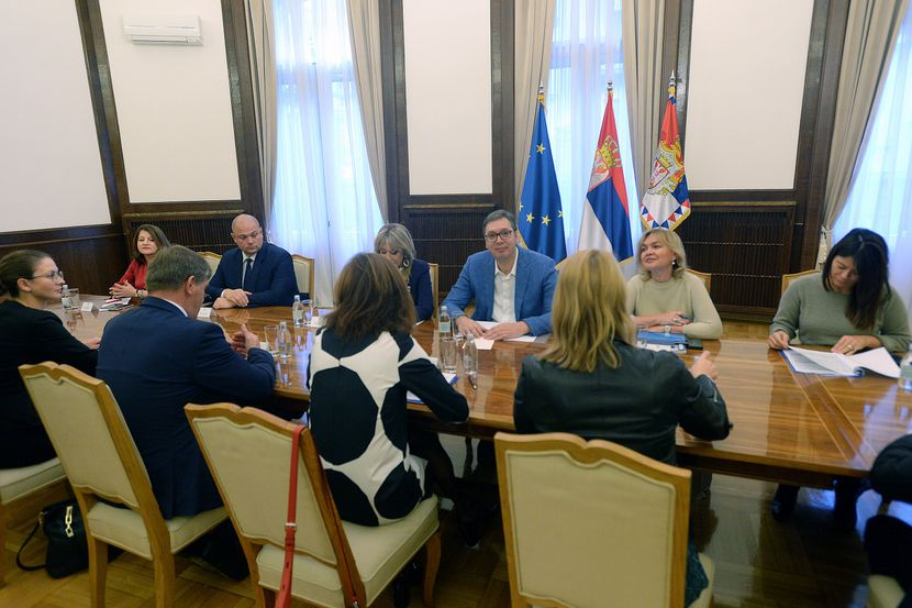 Aleksandar Vučić, Tanja Fajon, Jadranka Joksimović