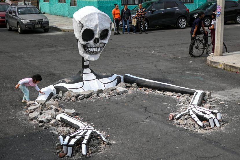 Skelet u Meksiku