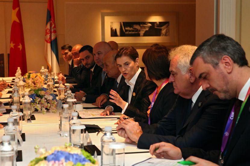 Ana Brnabić, Kina, sastanak Banka Kine