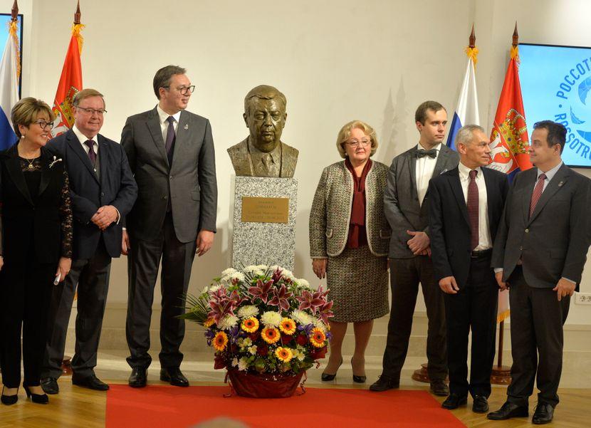 Aleksandar Vučić, otkrivanje biste