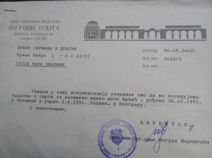 Snežana Brkić, nestale bebe, Loznica
