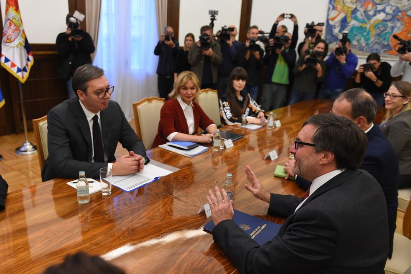 Aleksandar Vučić i Metju Palmer, sastanak