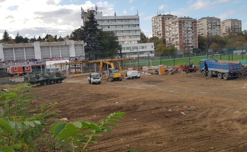 FK Crvena zvezda, Radovi, Marakana, mediko blok