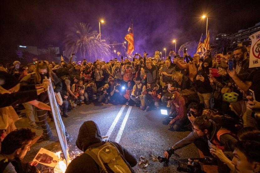 Katalonija Španija protest kralj Felipe