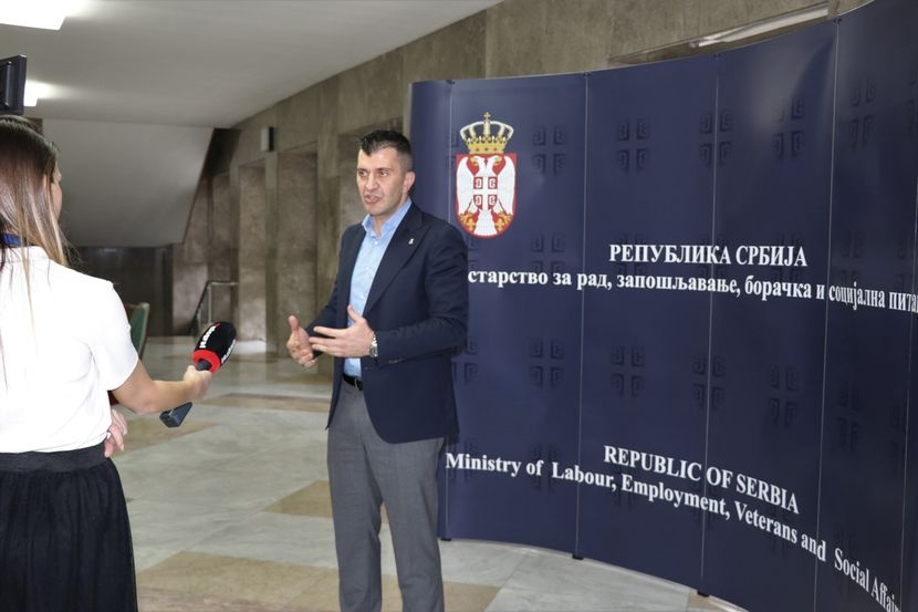 Zoran Đorđević, ministar rada i zapošljavanja i Profesor Univerziteta u Beogradu Vladimir Grečić